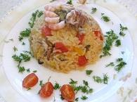Рис з морепродуктами рецепт.