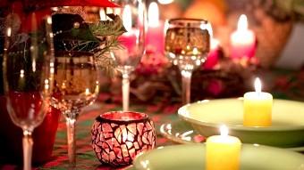 Вечеря в рожевих тонах