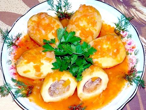 Рецепти фаршированого картоплі, як нафарширувати картоплю