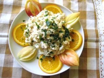 Салат з тріски гарячого копчення